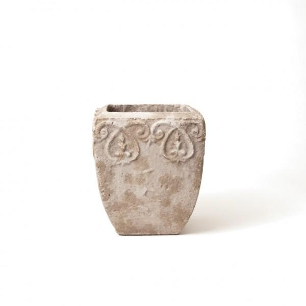 "Pflanztopf ""Amiens"", antik-weiß, L 31 cm, B 31 cm, H 40 cm"
