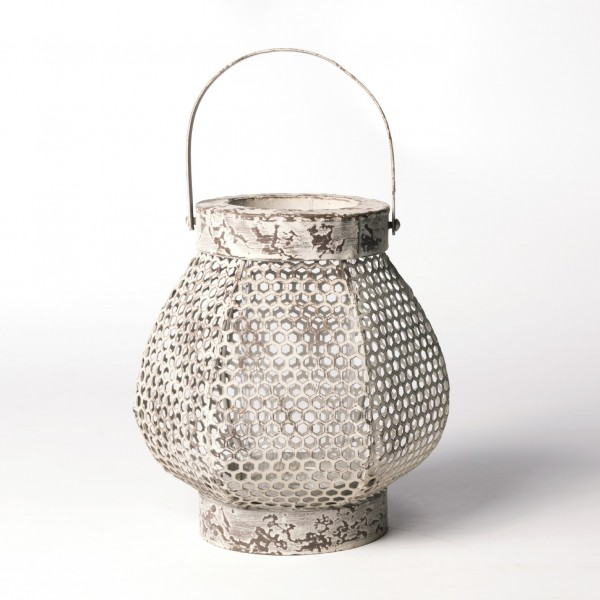 "Laterne ""Murlong"", antik-grau, Ø 16 cm, H 19 cm"