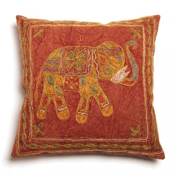 Kissenhülle 'Elephant', rottöne, L 40 cm, B 40 cm