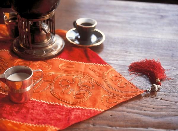 Tischläufer, rot/orange, L 45 cm, B 150 cm