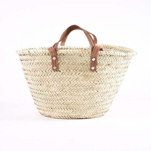 Strandtasche aus Palmgras, Größe S, L 43 cm, B 24 cm, H 25 cm