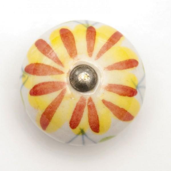 Türknauf rund, gelb/orange, Ø 3,5 cm