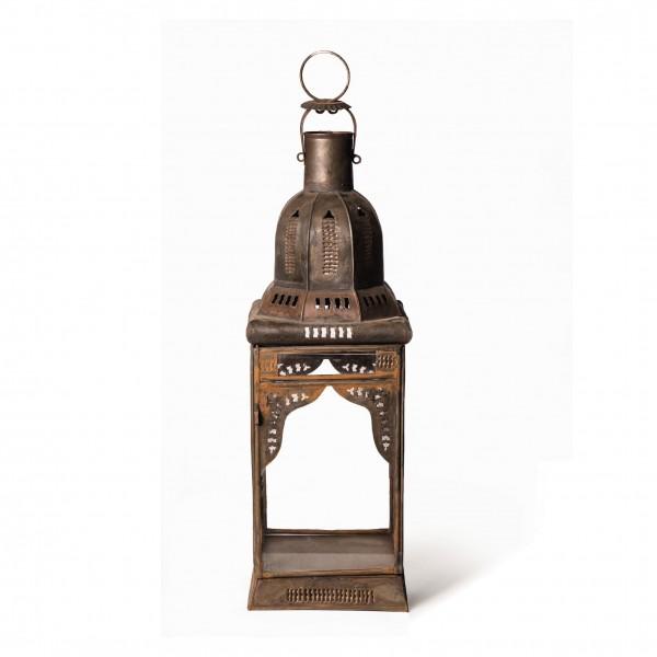 Marokkanische Laterne 'Mamonia', klar, L 15 cm, B 15 cm, H 45 cm