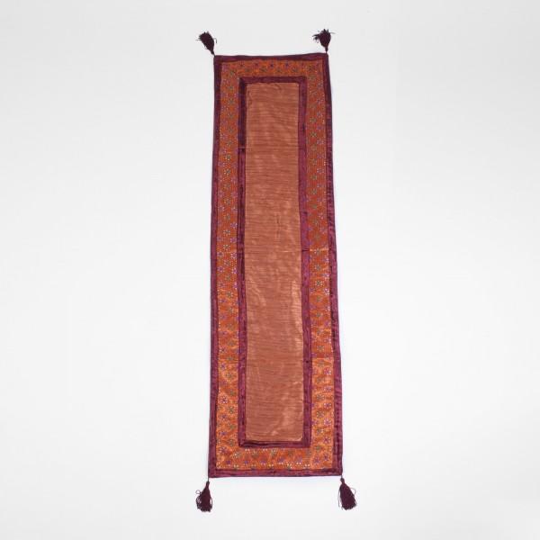 """Tischläufer """"Field"""", bordeaux/braun, L 150 cm, B 40 cm"""
