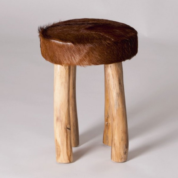 Fell-Hocker, natur, H 42 cm, Ø 31 cm