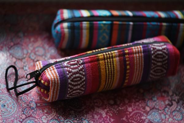 Stifteetui Nepalstyle 'Joliette', multicolor, T 21 cm, B 18 cm