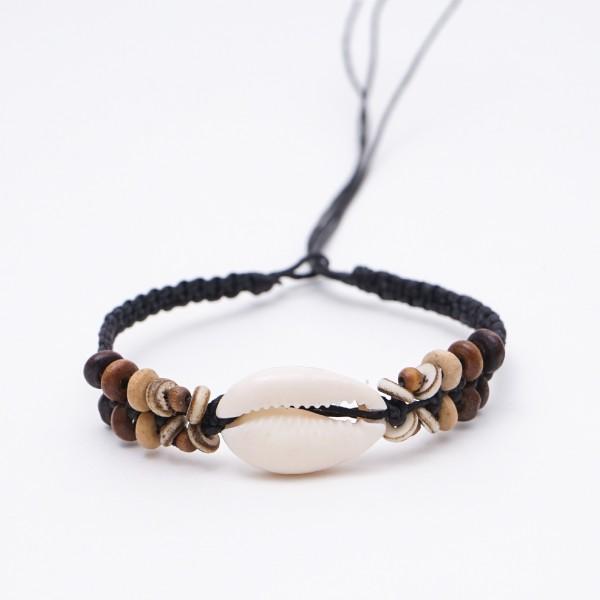 "Armband ""Monica"", handgefertigt, braun"