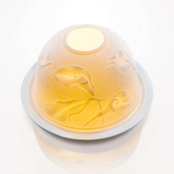 Windlicht 'Lys' aus Porzellan, Ø 12 cm, H 7,5 cm
