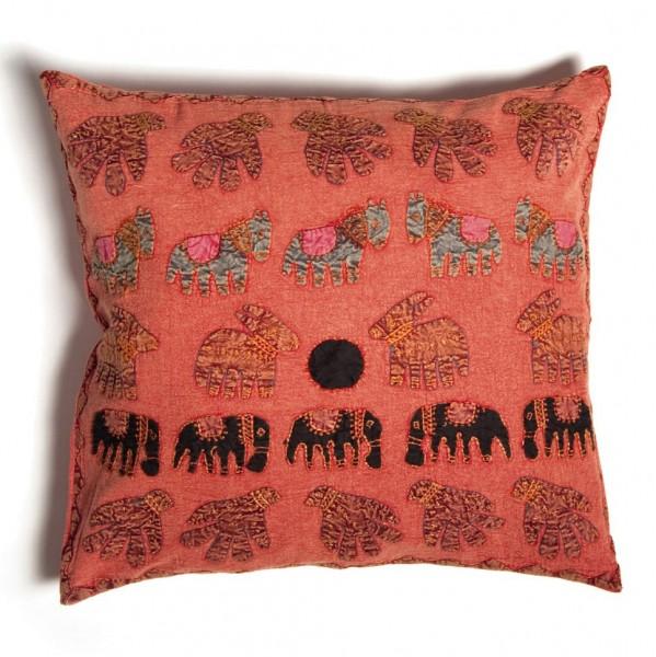 "Kissenhülle ""Elefant"", rosa, L 60 cm, B 60 cm"