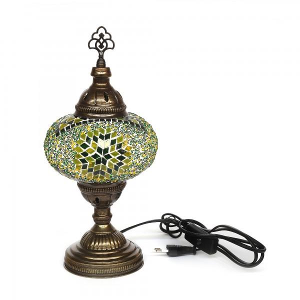 Mosaiklampe 'Stern', grün, T 17 cm, B 17 cm, H 36 cm