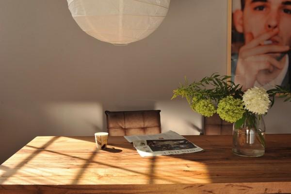 Tisch 'Römö', natur, grau, L 250 cm, B 100 cm, H 78 cm