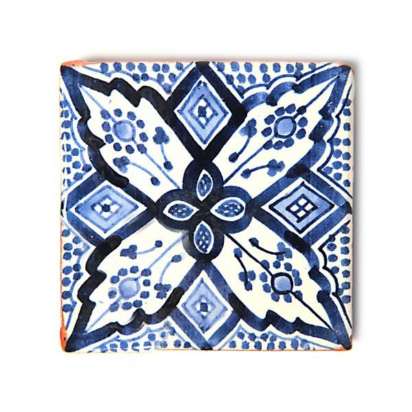 """Fliese """"safi bleu"""", blau/weiß, L 10 cm, B 10 cm, H 1 cm"""