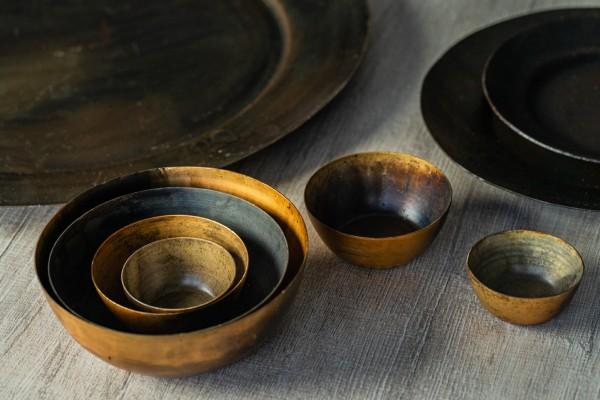 Schale 'Alseja' XS, antik messing, Ø 5,5 cm, H 2,5 cm