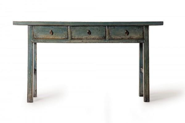 Tisch, 3 Schubladen, türkis, T 36 cm, B 160 cm, H 87 cm