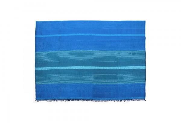 Decke aus Sabra 'Ocean', blau, T 300 cm, B 200 cm