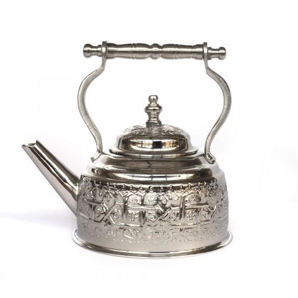 Teekanne 'Makrach', silber, Ø 13 cm, H 15 cm