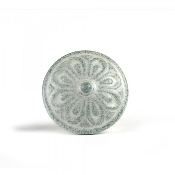 Türknauf rund, weiß/grau, Ø 4 cm