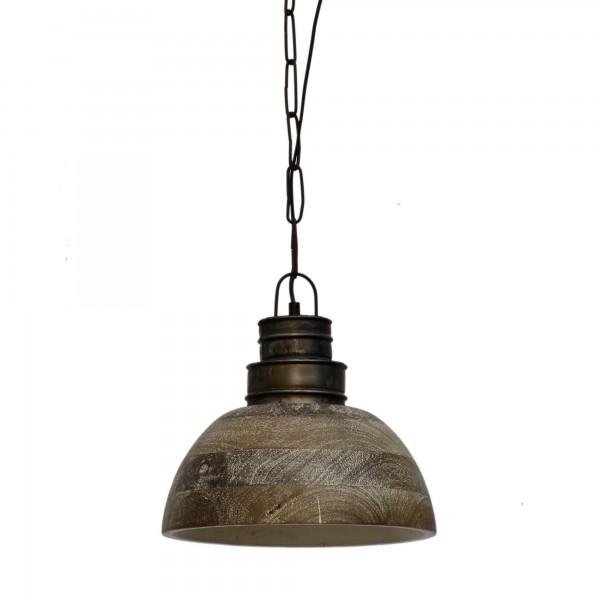 Lampe 'Grain', braun, grau, Ø 29 cm, H 29 cm