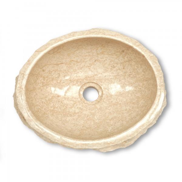 Marmorwaschbecken, weiß, T 30 cm, B 35 cm, H 15 cm