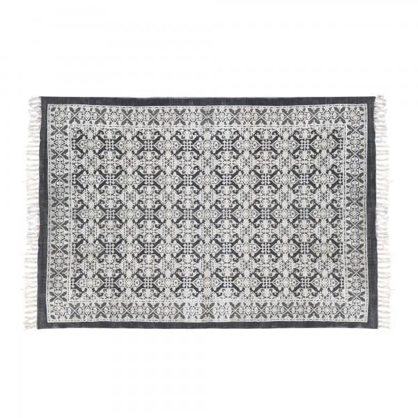 Teppich 'Rolana', schwarz, weiß, T 140 cm, B 200 cm