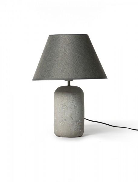 Tischleuchte 'Stenhaldt', grau, Ø 15 cm, H 51 cm