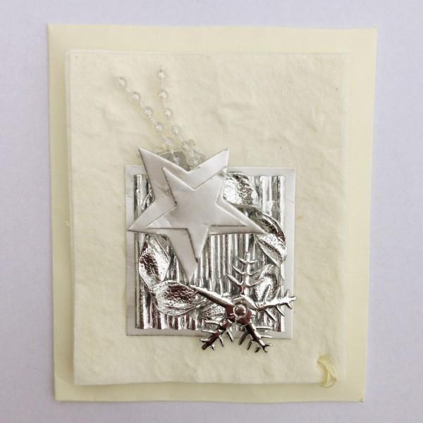 Geschenkkarte, weiß, H 7,5 cm, B 6 cm