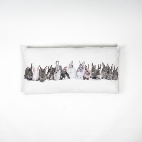 "Fotodruck-Kissen ""Kaninchen"", inklusive Füllung, L 40 cm, B 80 cm"
