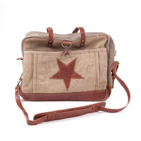 """Umhängetasche """"One Star"""", beige/braun, B 41 cm, H 33 cm"""