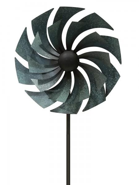 "Windrad ""Tibault"", grau, Ø 33 cm, H 170 cm"