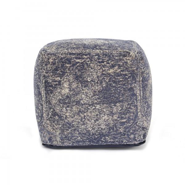 Pouf 'Amir', schwarz, weiß, T 45 cm, B 45 cm, H 45 cm