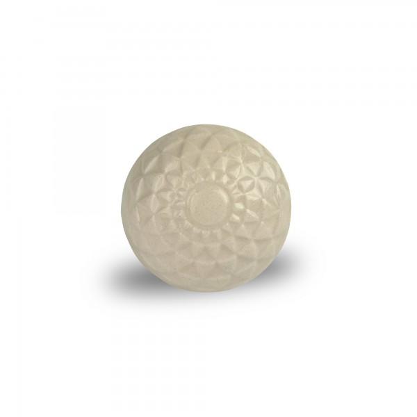 Keramik-Knauf 'Triangles', weiß, Ø 4 cm, H 2,5 cm