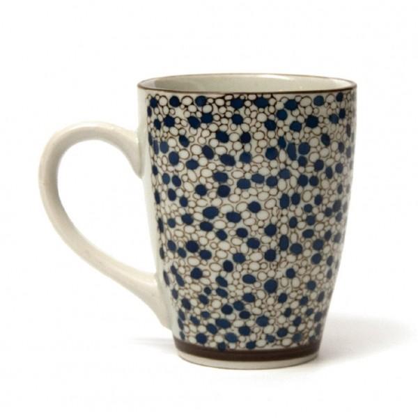 """Tasse Gordes """"Kreise"""", blau/grau, H 12 cm, Ø 9,5 cm"""