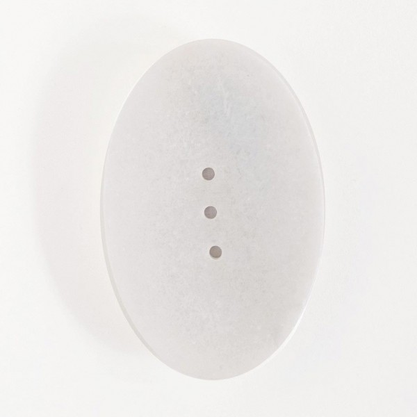 Seifenschale, weiß, L 9 cm, B 14 cm, H 2 cm