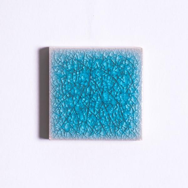 Fliese 'Craquele', hellblau, L 5 cm, B 5 cm