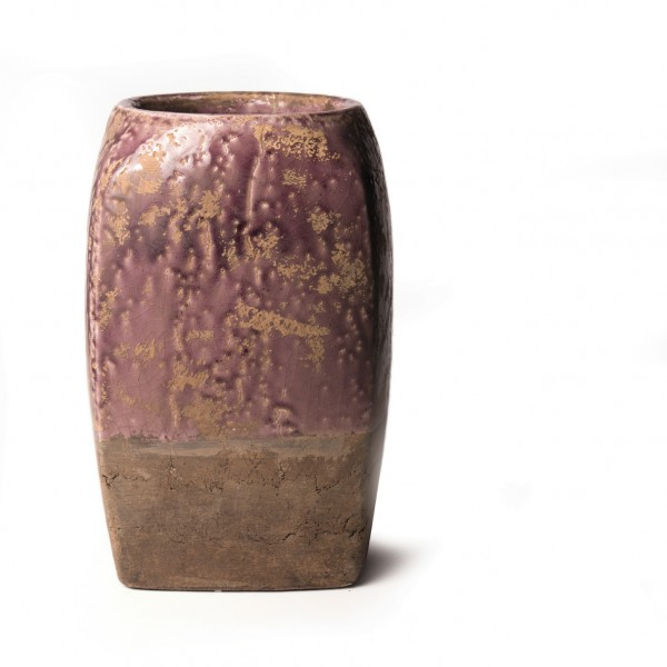 """Pflanztopf """"Toulon"""", rosa/beige, Ø 20 cm, H 32 cm"""