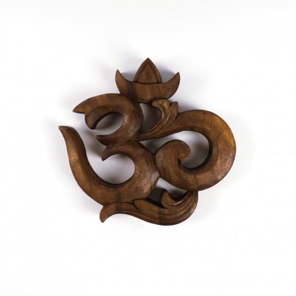 "Abstrakt ""OM"", braun, B 15 cm, H 15 cm"