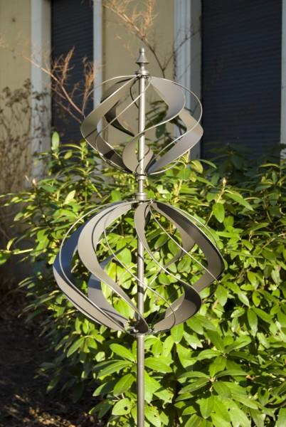 "Windrad ""Spiral"", grau, Ø 45 cm, H 214 cm"