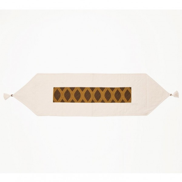 """Tischläufer """"Elypse"""", beige/braun, L 150 cm, B 40 cm"""