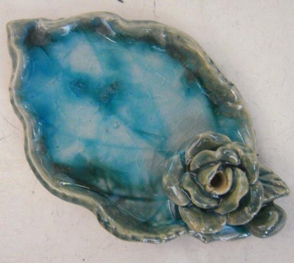Ablage Blattform, blau, T 6,5 cm, B 11 cm