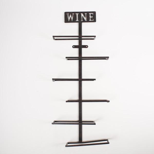"Flaschenhalter ""Steps"", aus Metall, B 34 cm, H 82 cm"