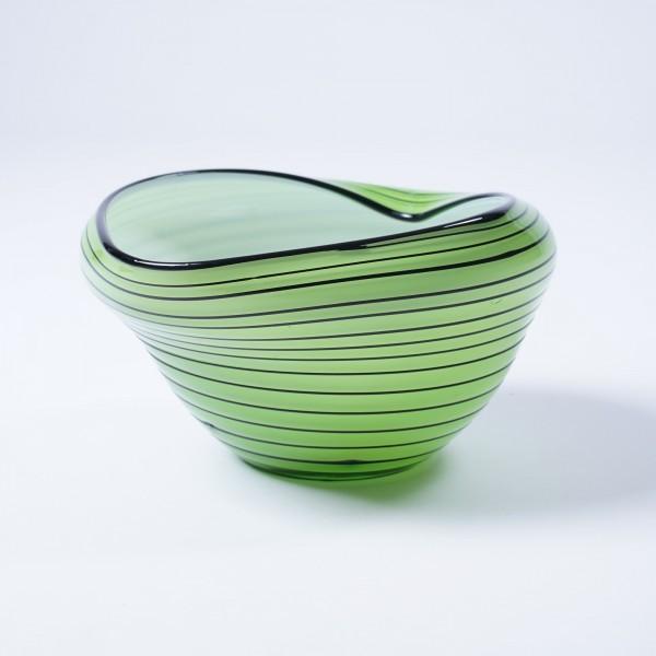 """Glasschale """"Muschel"""", grün, Ø 25 cm, H 13 cm"""