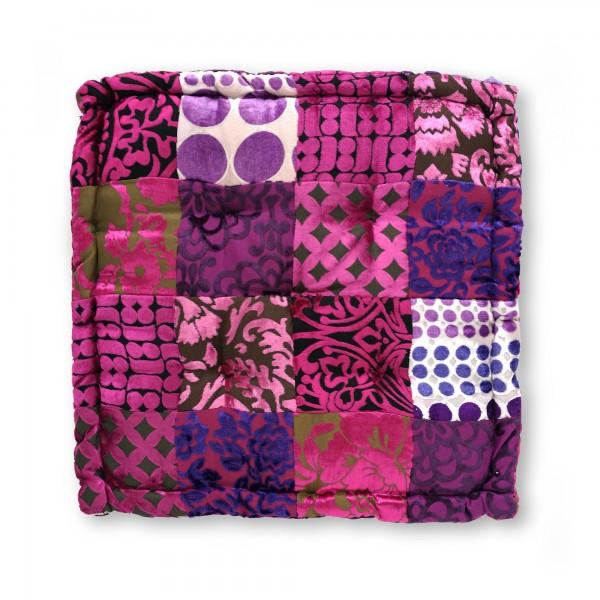 Sitzkissen Patchwork, pink, T 45 cm, B 45 cm, H 10 cm