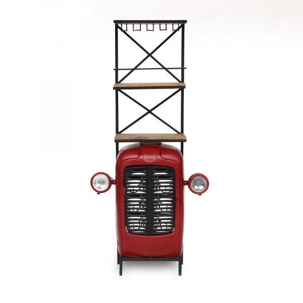 Traktor-Bar, rot, T 34 cm, B 88 cm, H 180 cm
