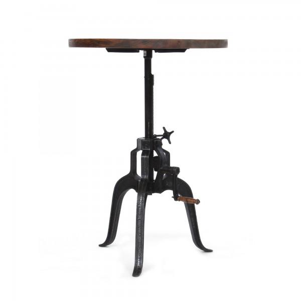 Tisch 'Budfield', natur, schwarz, T 75 cm, B 75 cm, H 100 cm