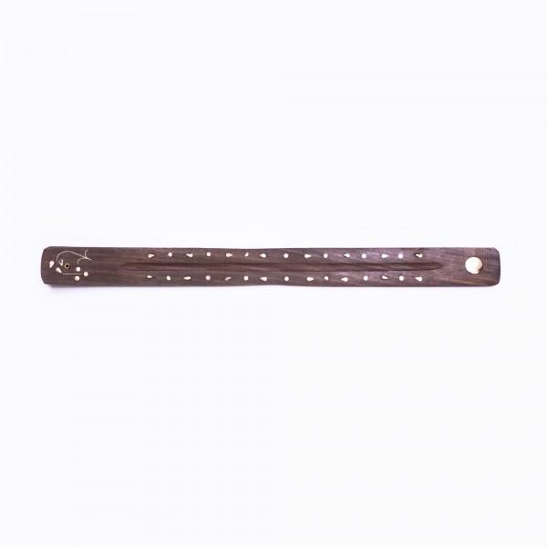Räucherstäbchenhalter, braun, L 45 cm, B 4 cm