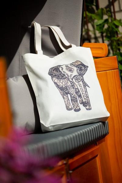 Stoffbeutel Elefant, grau, L40 cm, B 9 cm, H 40 cm