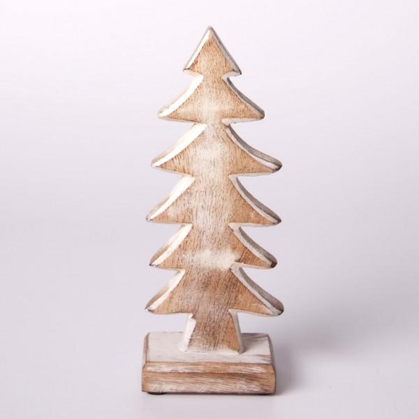 "Tanne ""Sankt Englmar"" aus Holz, braun, B 8 cm, H 21 cm"