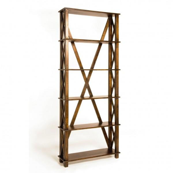 Bücherregal, hellbraun, T 25 cm, B 80 cm, H 200 cm