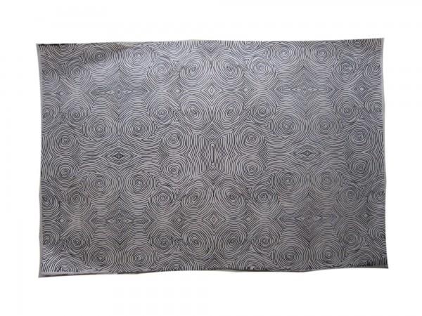 Geschenkpapier Spiralbild, weiß, schwarz, T 70 cm, B 50 cm