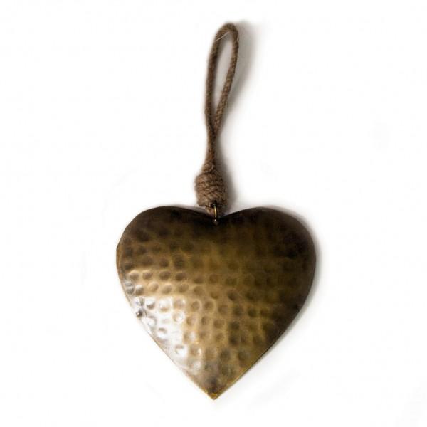 """Baumanhänger """"Herz"""" aus Metall L, gold, B 15 cm, H 15 cm"""